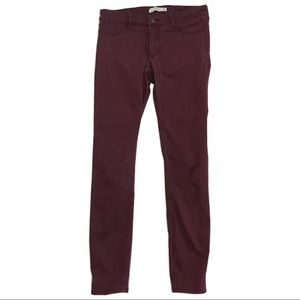 Abercrombie & Fitch red skinny jeans